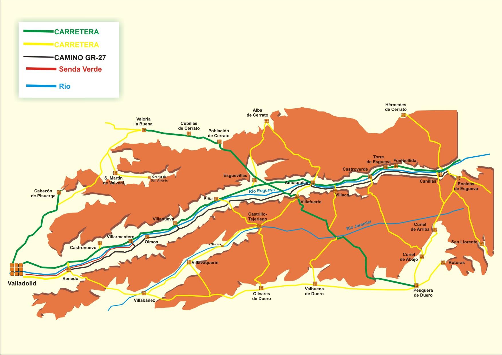 Esgueva valladolid rutas y paisajes for Gimnasio rio esgueva
