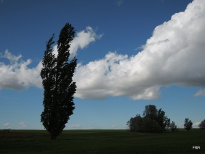 Horizontal, vertical y nube