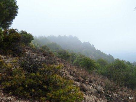 Parecían montañas en las que se quedaban las nubes lloviendo