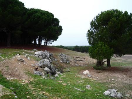 Piedras caísdas desde el Montecillo