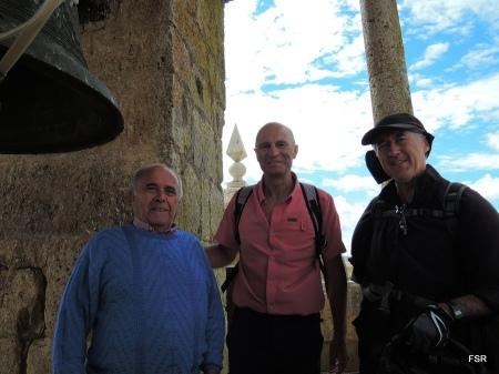 Vidal Izquierdo (i) con Javier y Miguel Ángel (d)
