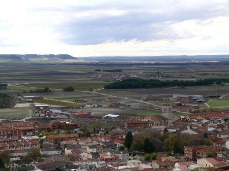 Vista desde Portillo: Arrabal, Aldea de San Miguel, Mojados...