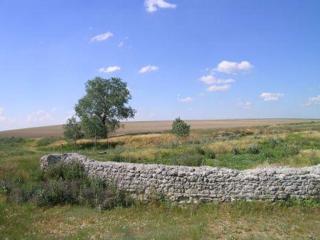 Muro de una antigua presa de molino en San Vitente del Palacio.