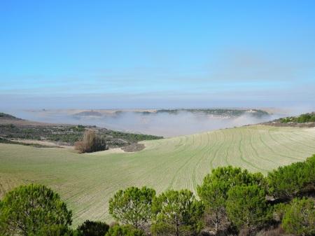 La niebla en el valle de Oreja