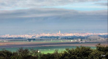 Vista de Tordesillas desde la terraza del Duero