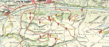 No es que sea muy definitdo este mapa, pero da una idea de la situación de estas construcciones pastoriles