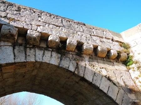Puente de Simancas. Detalle.
